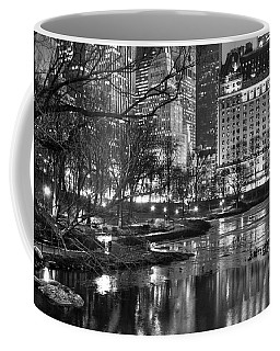 Coffee Mug featuring the photograph Central Park Lake Night by Dave Beckerman