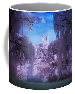 Central Park Lake Willows Color Coffee Mug