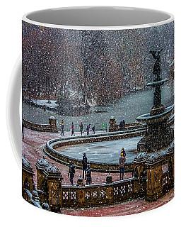 Central Park Snow Storm Coffee Mug