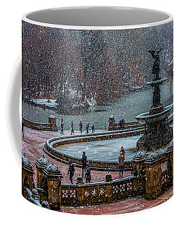 Central Park Snow Storm Coffee Mug