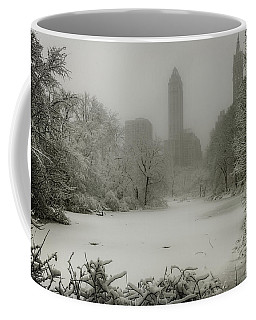 Coffee Mug featuring the photograph Central Park Snowstorm by Chris Lord