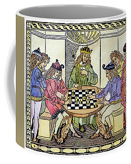 Coffee Mug featuring the painting Cessolis Chess, 1493-94 by Granger