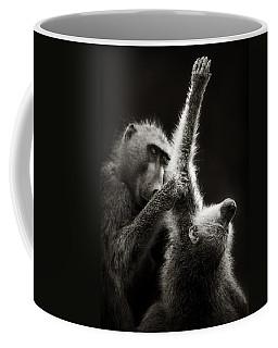 Chacma Baboons Grooming Coffee Mug