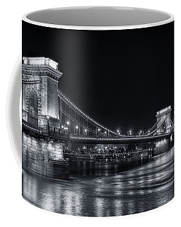 Chain Bridge Night Bw Coffee Mug