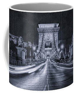 Chain Bridge Night Traffic Bwii Coffee Mug