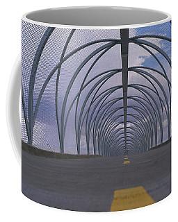 Chain-link Fence Covering A Bridge Coffee Mug