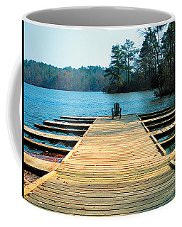 Chair On Dock By Jan Marvin Coffee Mug
