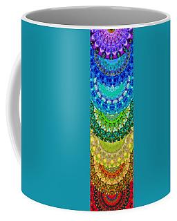 Chakra Mandala Healing Art By Sharon Cummings Coffee Mug