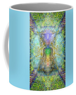 Chakra Tree Anatomy With Mercaba In Chalice Garden Coffee Mug