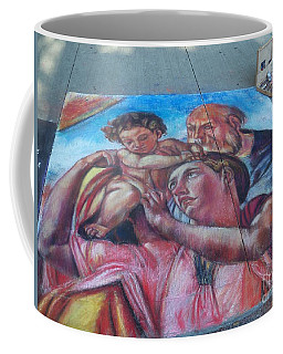 Chalk Painting By Street Artist Coffee Mug