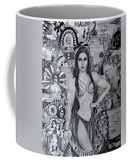 Coffee Mug featuring the drawing Chamorro Chronology by Michelle Dallocchio