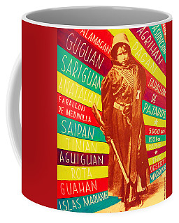 Coffee Mug featuring the painting Chamorro Revolutionary by Michelle Dallocchio