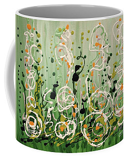 Coffee Mug featuring the painting Champagne Symphony by Holly Carmichael