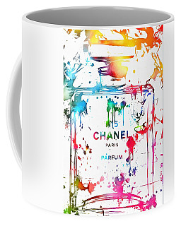 Chanel Number Five Paint Splatter Coffee Mug