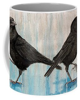 Crow Takes Tea Coffee Mug
