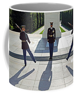 Coffee Mug featuring the photograph Changing Of The Guard by Cora Wandel