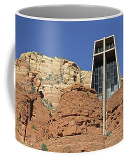 Coffee Mug featuring the photograph Chapel Of The Holy Cross by Penny Meyers
