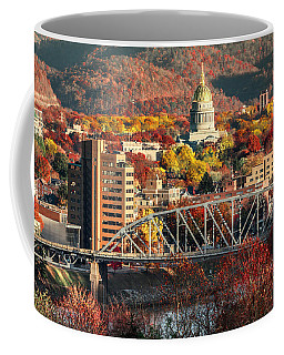Charleston And Wv Capitol Coffee Mug by Mary Almond