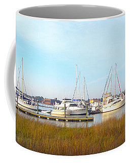 Charleston Harbor Boats Coffee Mug by M West