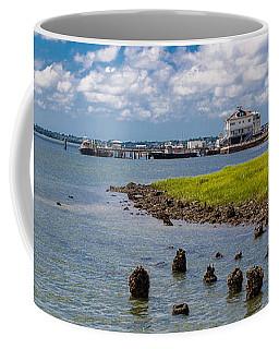 Coffee Mug featuring the photograph Charleston Harbor by Sennie Pierson