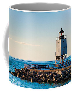 Coffee Mug featuring the photograph Charlevoix Lighthouse   by Lars Lentz