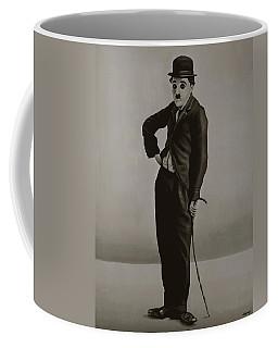 Charlie Chaplin Painting Coffee Mug