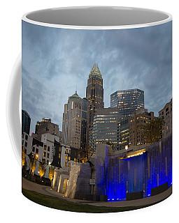 Coffee Mug featuring the photograph Charlotte City Lights by Serge Skiba