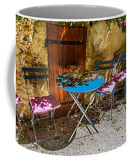 Coffee Mug featuring the photograph On The Patio by Dany Lison