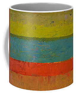 Chartreuse And Blue With Orange Coffee Mug