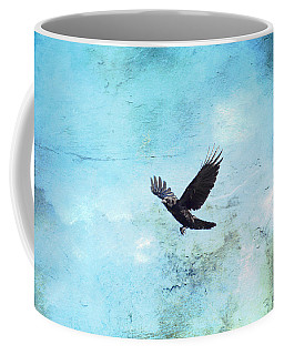 Coffee Mug featuring the photograph Chasing The Crow by Peggy Collins