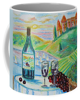 Coffee Mug featuring the painting Chateau Wine by Diane Pape