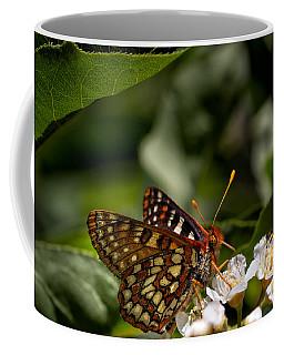 Checkerspot Sipping Nectar Coffee Mug