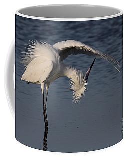 Checking For Leaks - Reddish Egret - White Form Coffee Mug