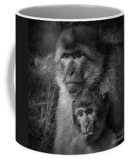 Cheeky Monkey Black And White Coffee Mug