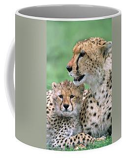 Cheetah Mother And Cub Coffee Mug