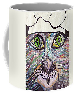 Coffee Mug featuring the painting Chef Pierre ... A Cat With Good Taste by Eloise Schneider