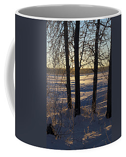 Chena River Trees Coffee Mug by Cathy Mahnke