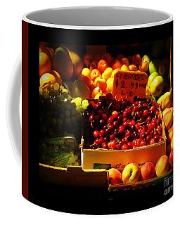 Cherries 299 A Pound Coffee Mug by Miriam Danar