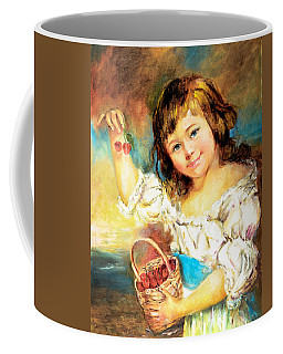 Cherry Basket Girl Coffee Mug