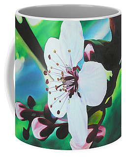 Coffee Mug featuring the painting Cherry Blosom by Joshua Morton