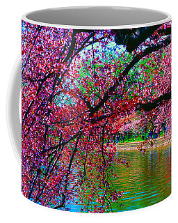 Cherry Blossom Walk Tidal Basin At 17th Street Coffee Mug