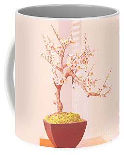 Cherry Bonsai Tree Coffee Mug by Marian Cates