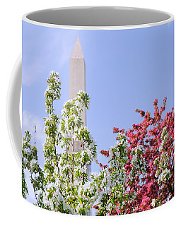 Cherry Trees And Washington Monument Four Coffee Mug