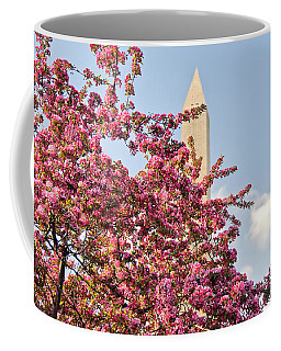 Cherry Trees And Washington Monument One Coffee Mug