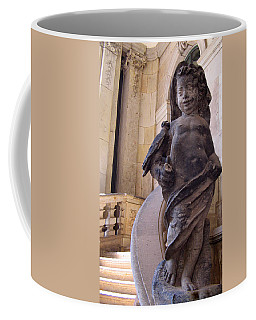 Coffee Mug featuring the photograph Cherub At The Entrance Of Zwinger Palace - Dresden Germany by Jordan Blackstone