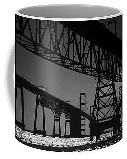 Chesapeake Bay Bridge At Annapolis Coffee Mug by Skip Willits