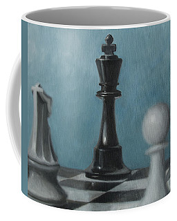 Coffee Mug featuring the painting Chess Pieces by Joe Winkler