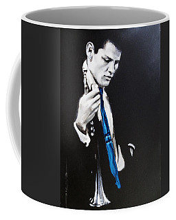 Coffee Mug featuring the painting Chet Baker - Almost Blue by Eric Dee