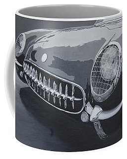 Coffee Mug featuring the painting Chevrolet Corvette 1954 by Anna Ruzsan