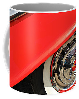 1955 Chevy Rim Coffee Mug by Linda Bianic